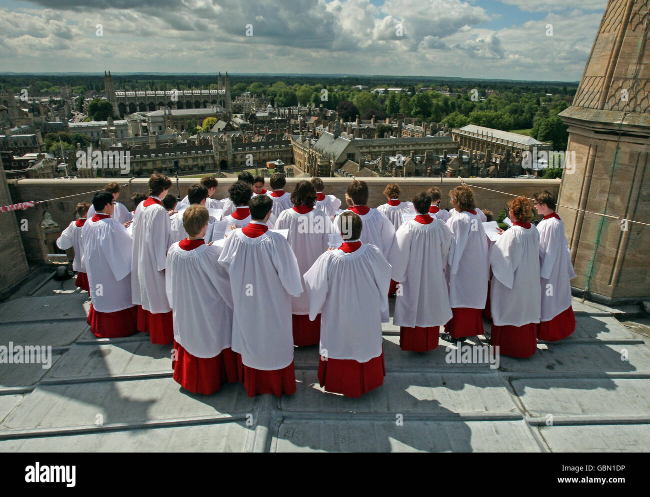 Religion - Ascension Day Hymn - St John's College Chapel Choir  - St John's Chapel, Cambridge - Stock Image