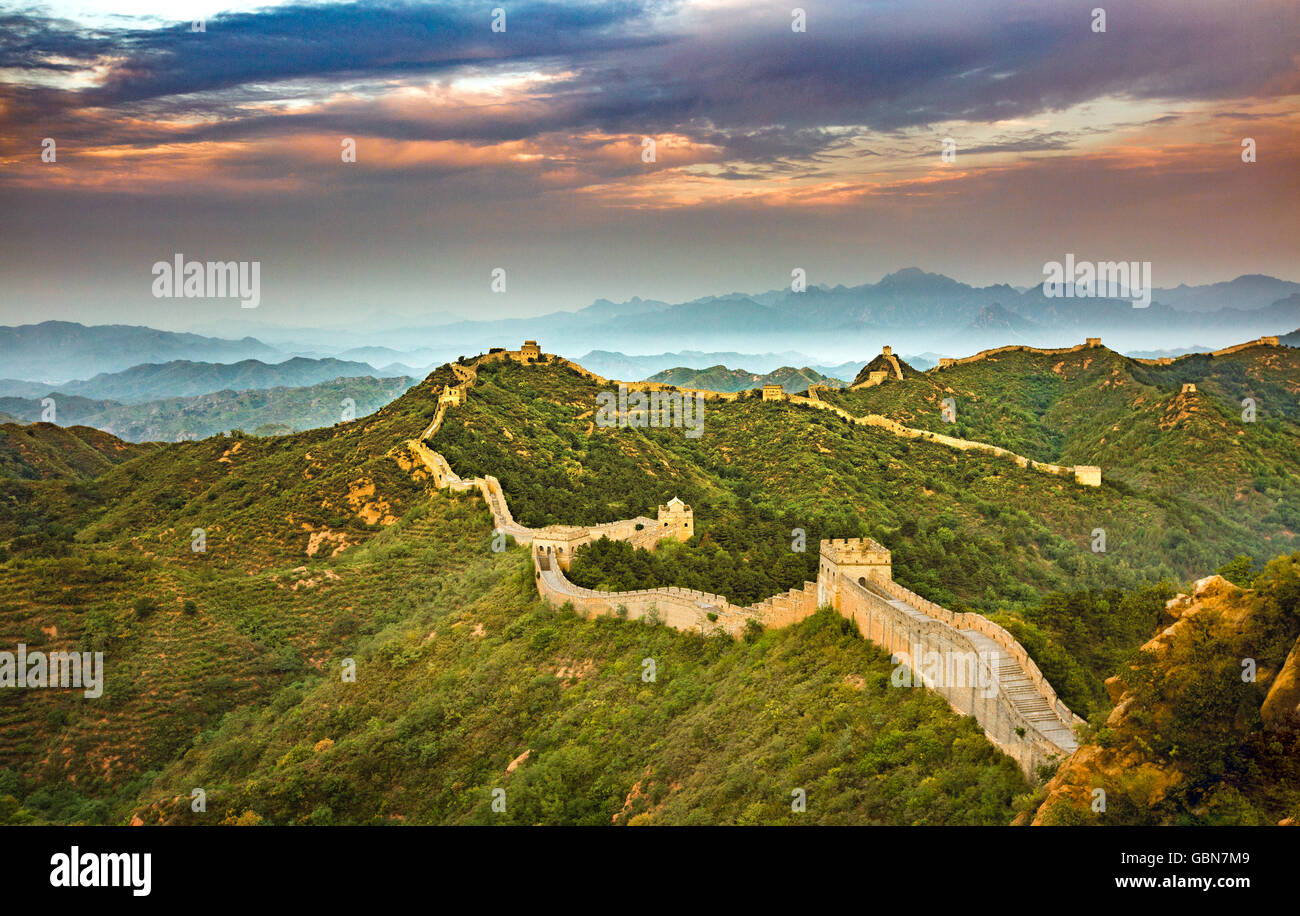 Jinshanling the Great Wall - Stock Image