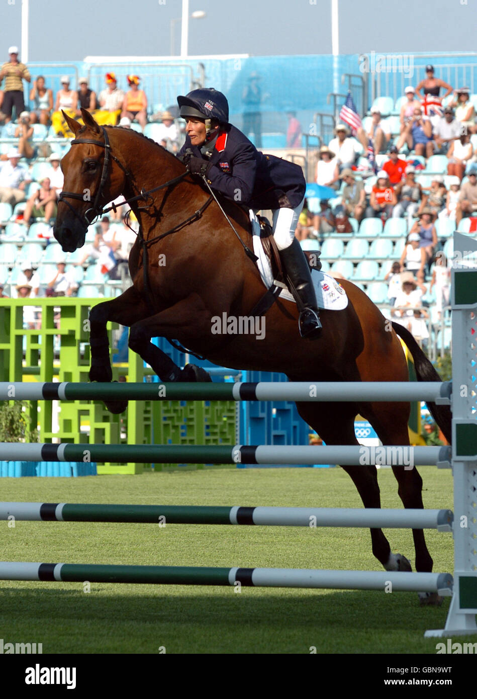 Equestrian - Athens Olympic Games 2004 - Three Day Eventing Show jumping - Stock Image