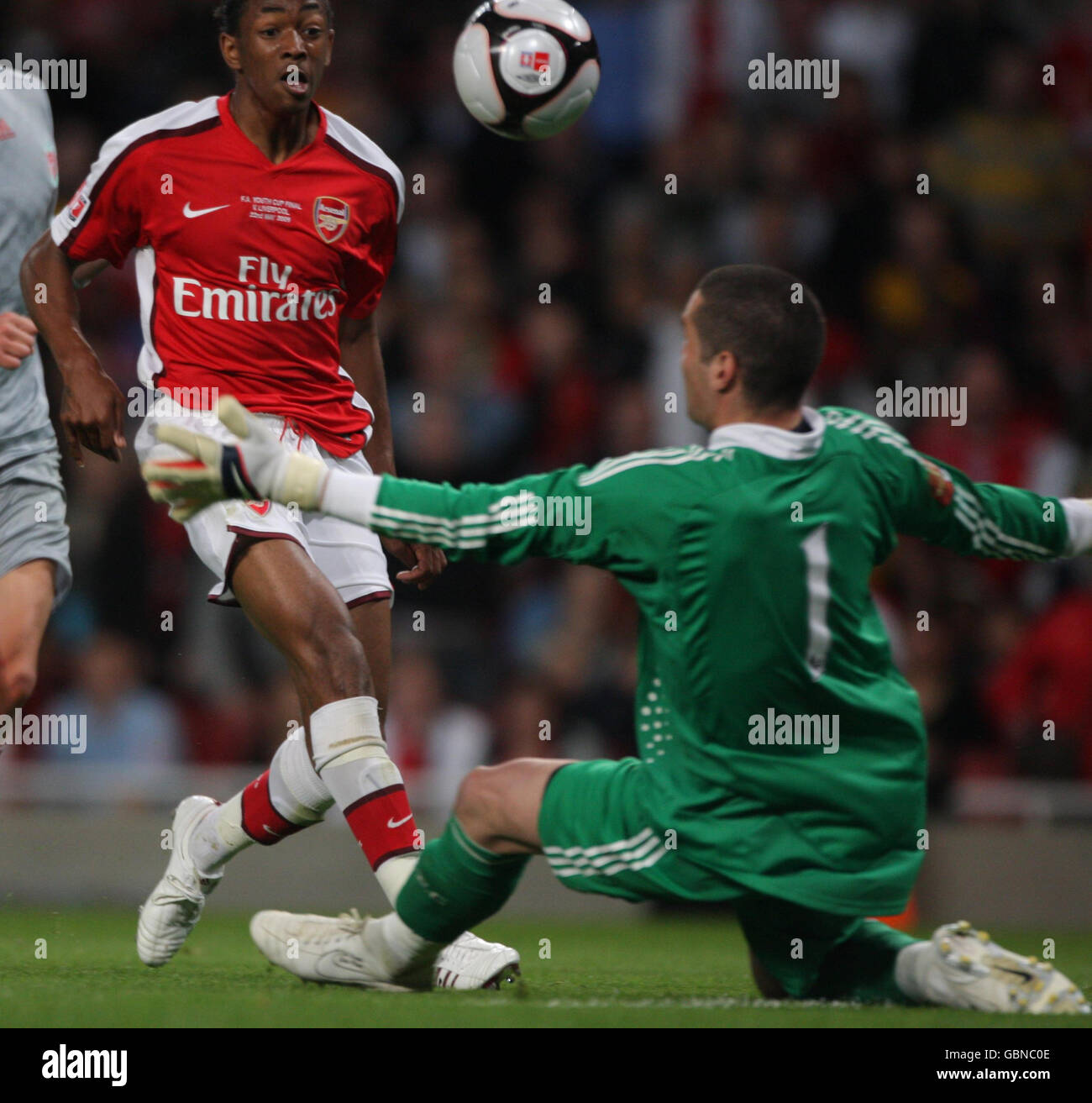 Soccer - FA Youth Cup Final - First Leg - Arsenal v Liverpool - Emirates Stadium - Stock Image