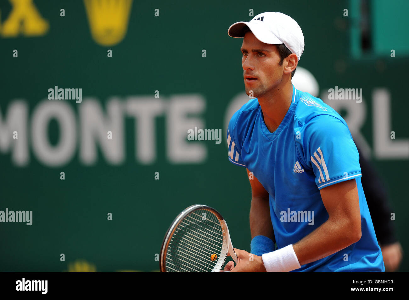 Tennis - ATP World Tour Masters - Monte-Carlo - Semi Final - Novak Djokovic v Stanislas Wawrinka - Stock Image