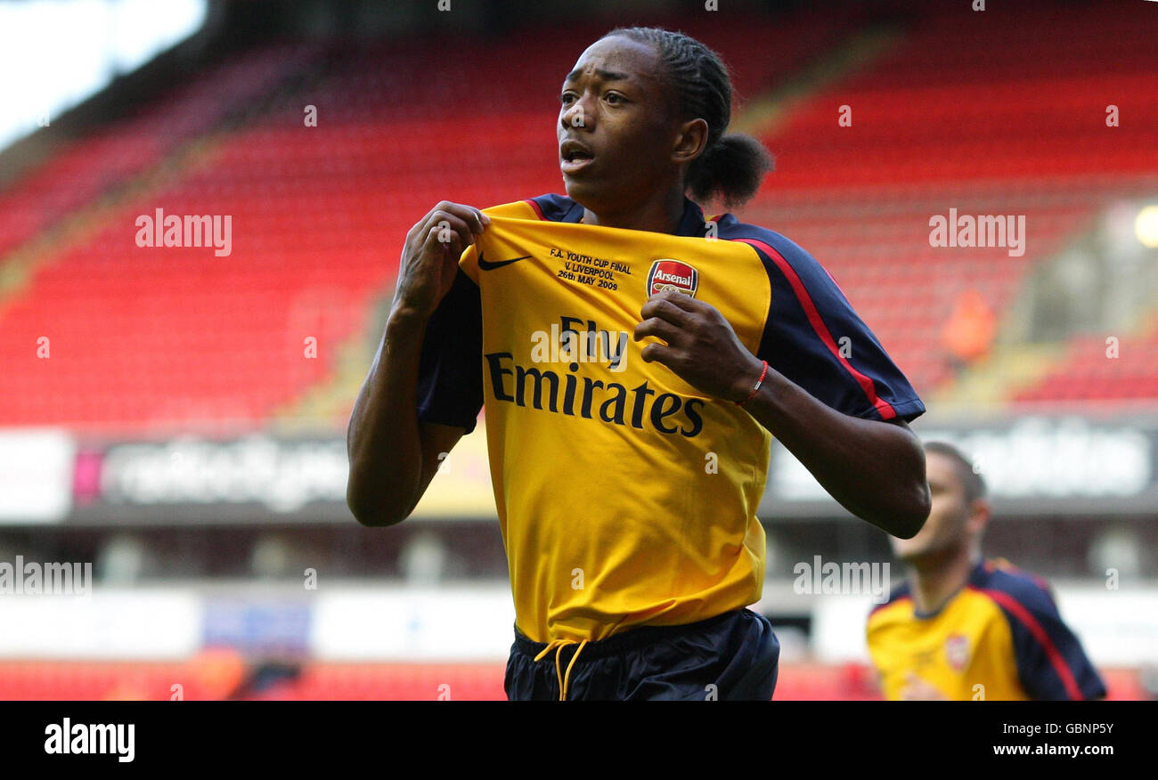 Soccer - FA Youth Cup - Final - Second Leg - Liverpool v Arsenal - Anfield Stock Photo