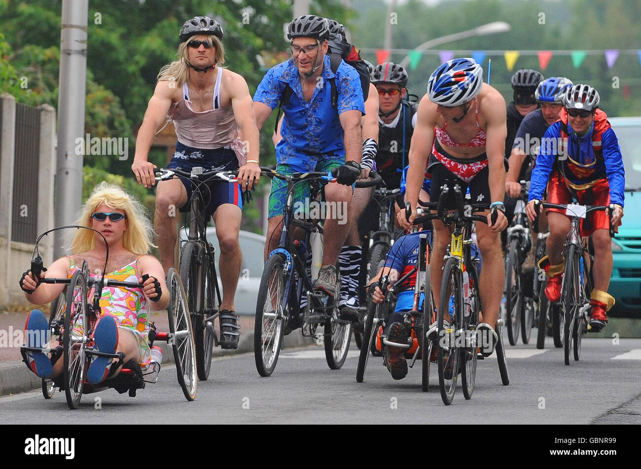 Band of Brothers Bike ride 2009 - Stock Image