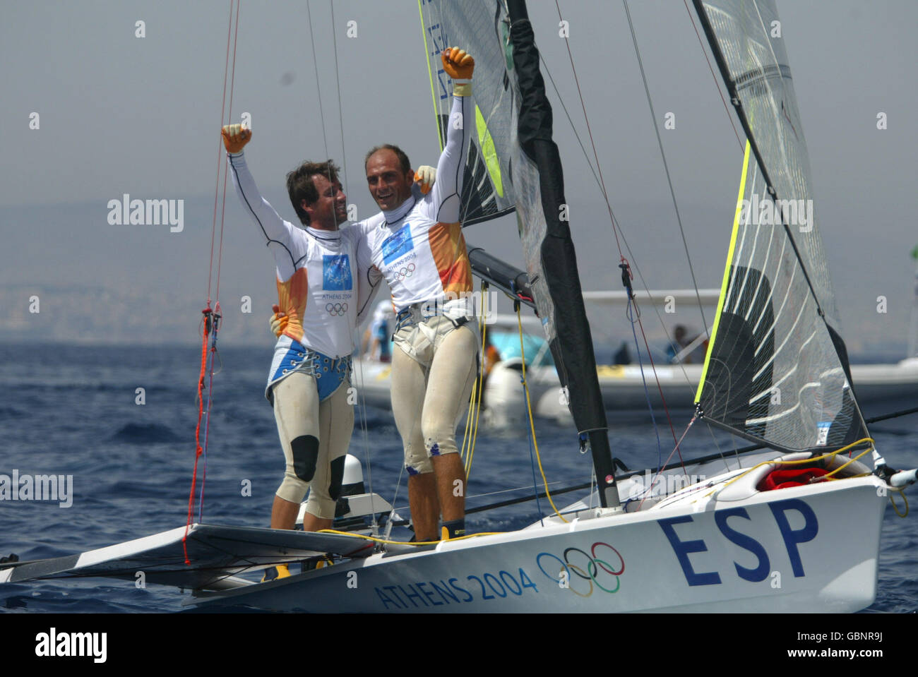 Sailing - Athens Olympic Games 2004 - Open Double-Handed Dinghy-49er - Stock Image