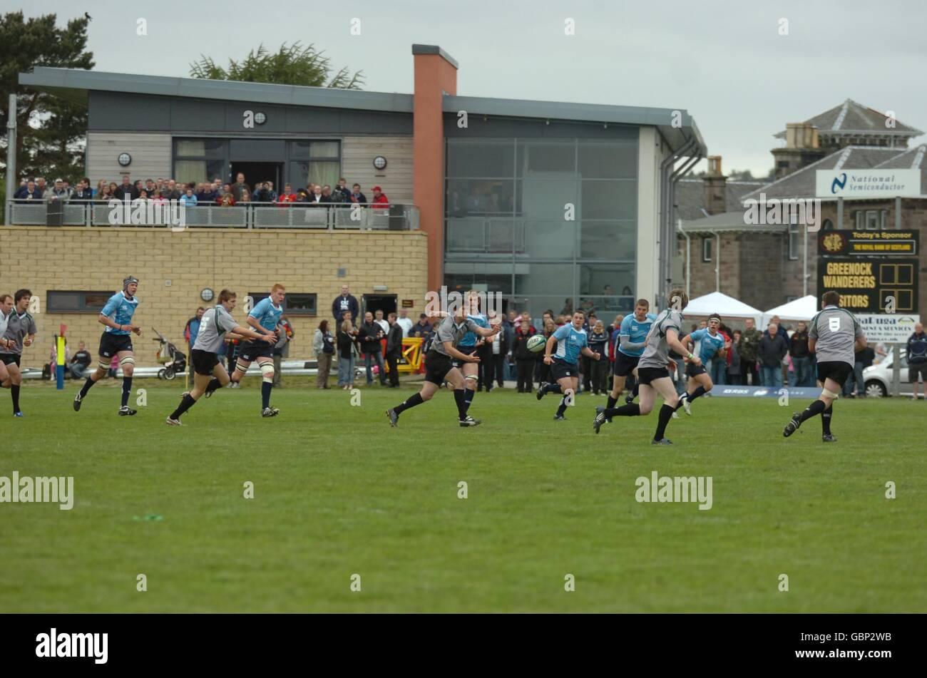 Rugby Union - IRB World Cup Warm up match - Scotland Under 20's v Ireland Under 20's - Fort Matilda Rugby Club Stock Photo