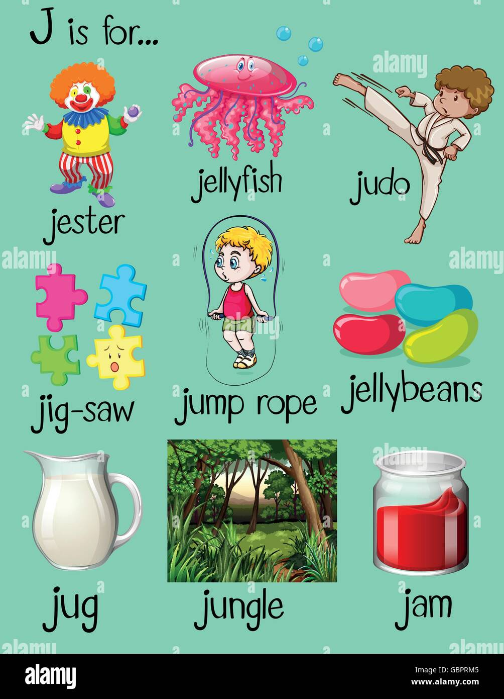 5 letter words starting with la j is for jam stock photos amp j is for jam stock images alamy 16253