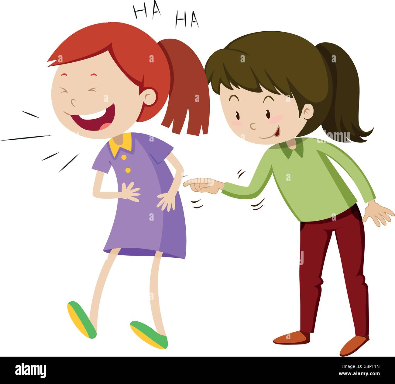 two friends laughing stock vector images alamy