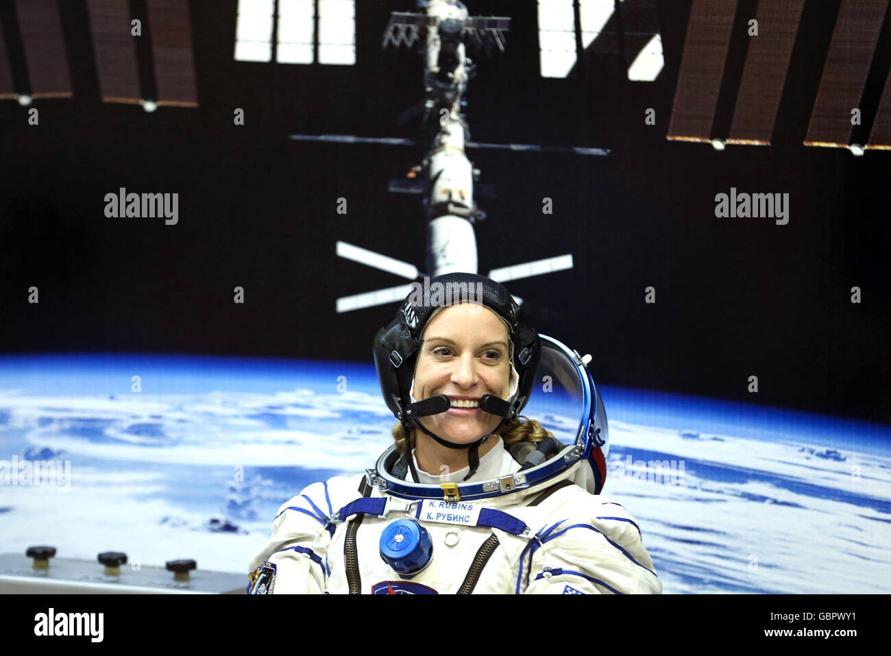 Baikonur Cosmodrome, Kazakhstan. 7th July, 2016. US astronaut Kathleen Rubins (NASA), a member of the main crew - Stock Image
