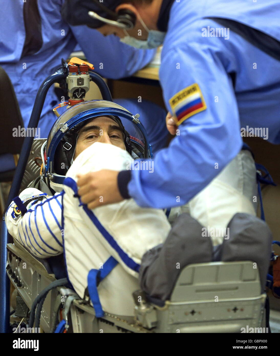 Baikonur Cosmodrome, Kazakhstan. 7th July, 2016. Russian cosmonaut Anatoly Ivanishin (Roscosmos), a member of the - Stock Image