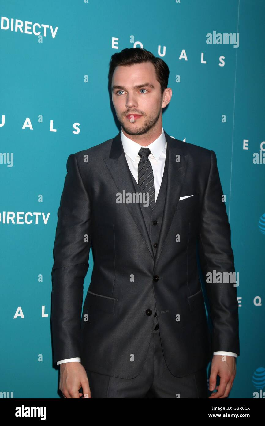 Los Angeles, CA, USA. 7th July, 2016. Nicholas Hoult at arrivals for EQUALS Premiere, Arclight Hollywood, Los Angeles, Stock Photo