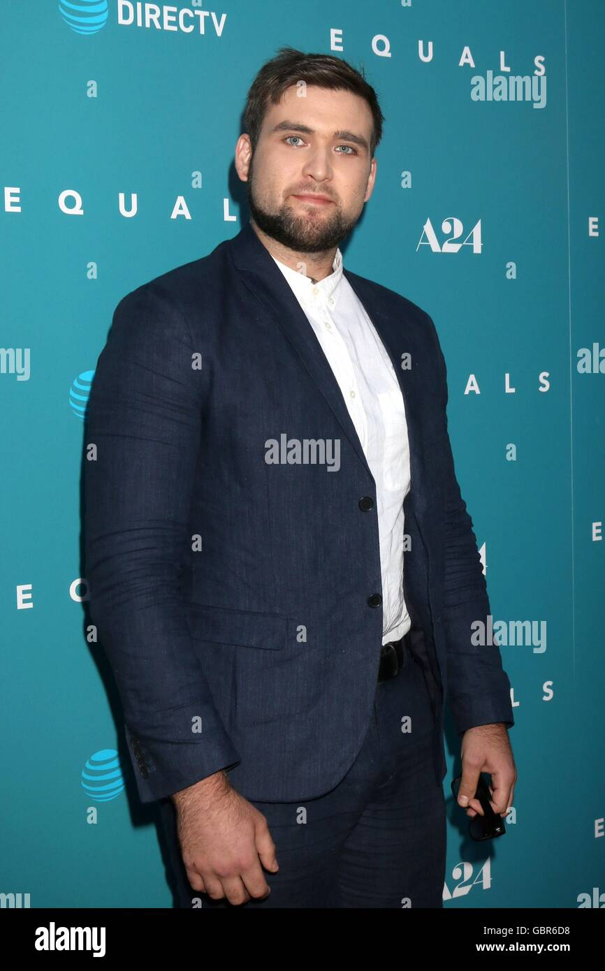 Los Angeles, CA, USA. 7th July, 2016. Weston Cage at arrivals for EQUALS Premiere, Arclight Hollywood, Los Angeles, Stock Photo