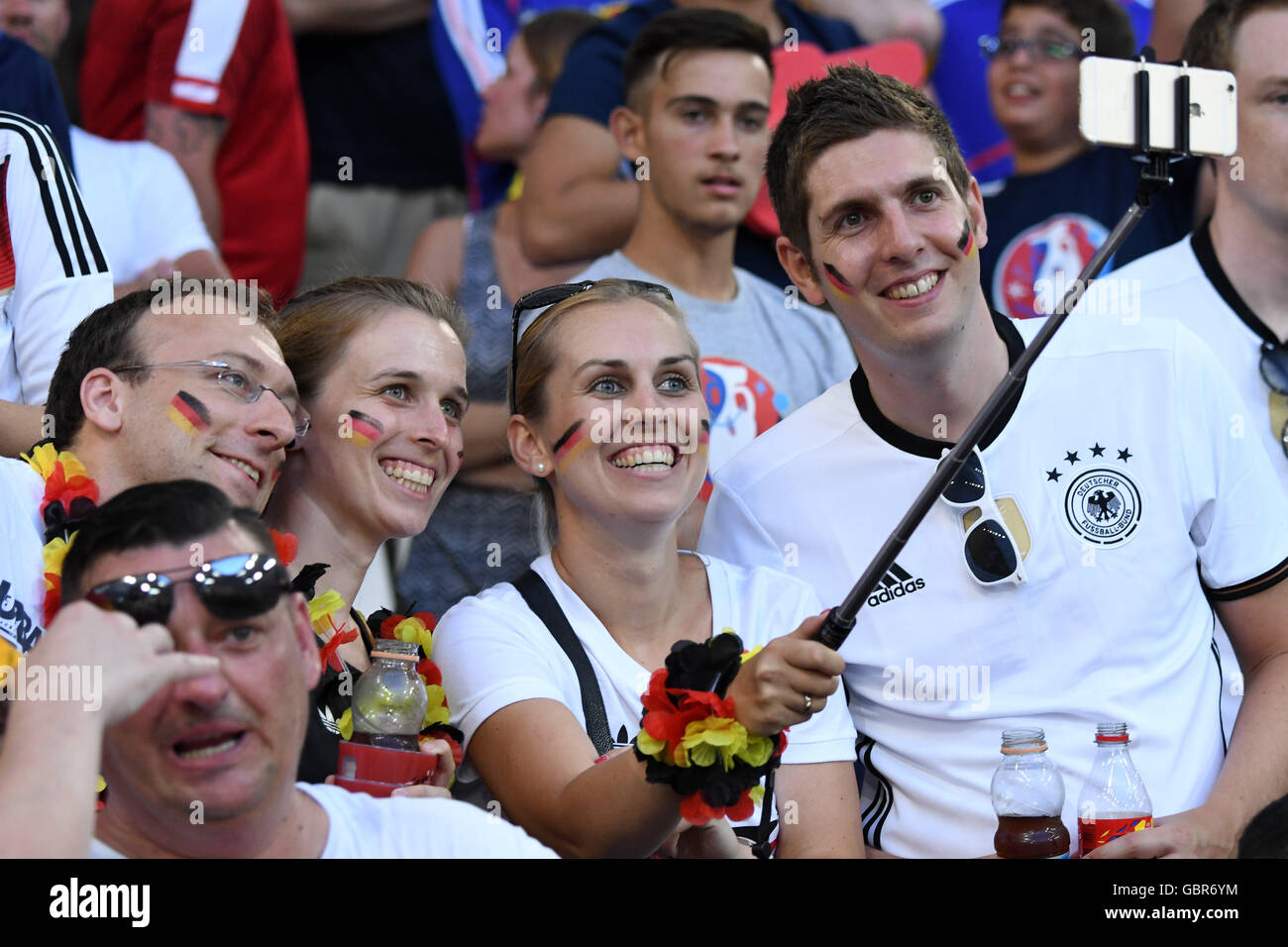 Supporeters (Germany) ; July 07, 2016 - Football : Uefa Euro France 2016, Semifinal, Germany 0-2 France at Stade - Stock Image