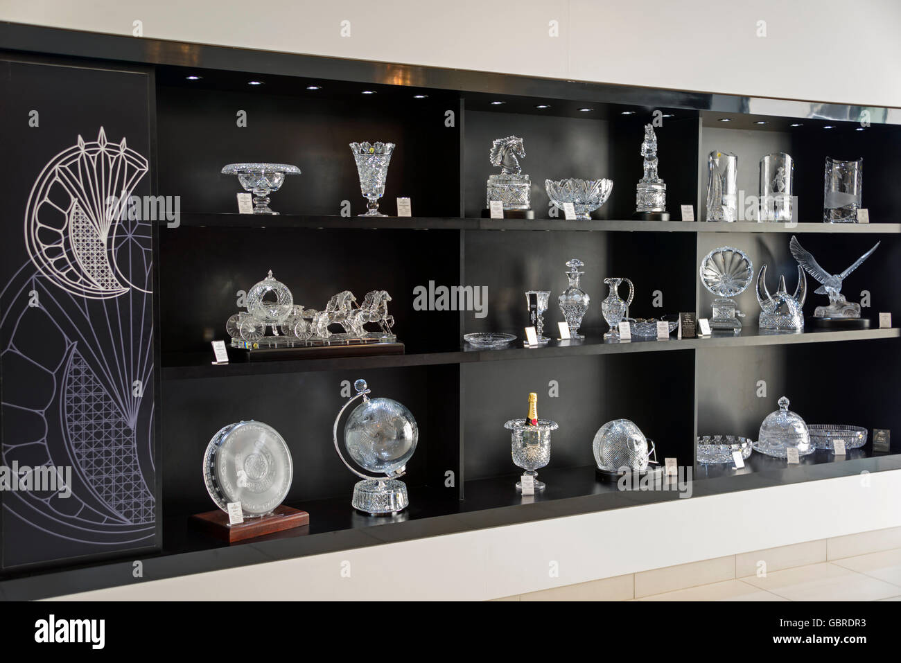 Crystal, House of Waterford Crystal, Waterford, Ireland - Stock Image