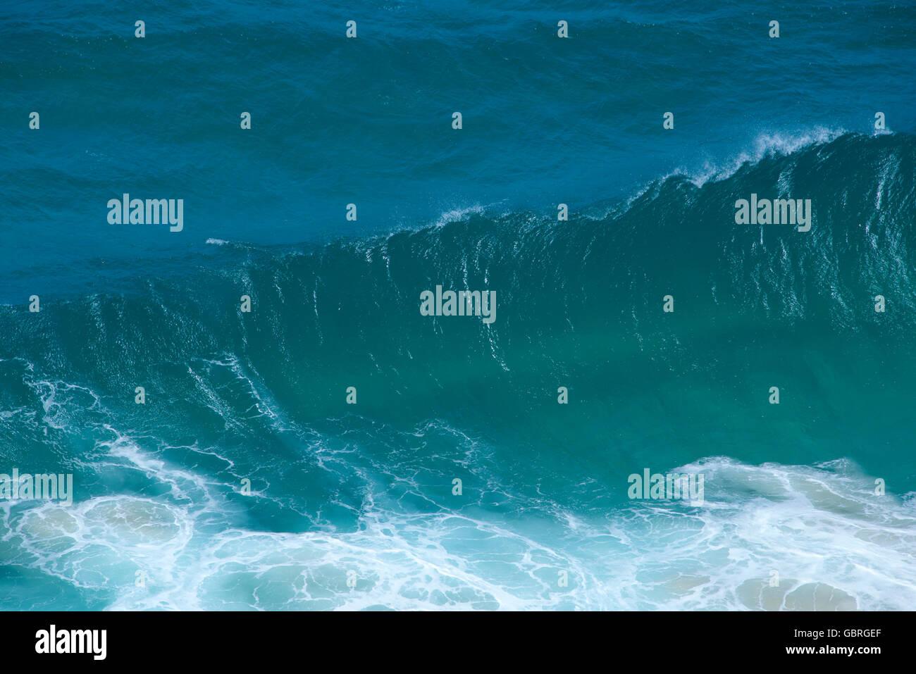 Aerial view enormous wave NSW Australia - Stock Image