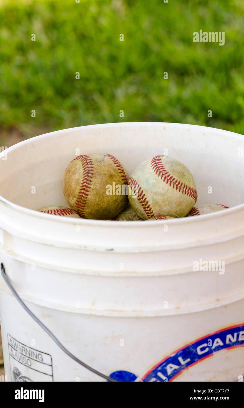 Bucket of baseballs Stock Photo: 110556523 - Alamy
