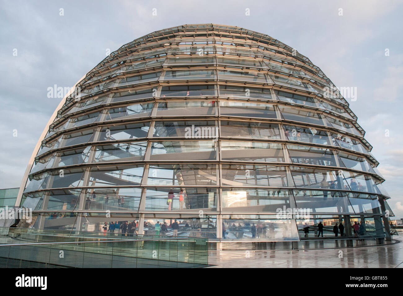 Norman Foster's Bundestag (Parliament building) Dome, Berlin - Stock Image
