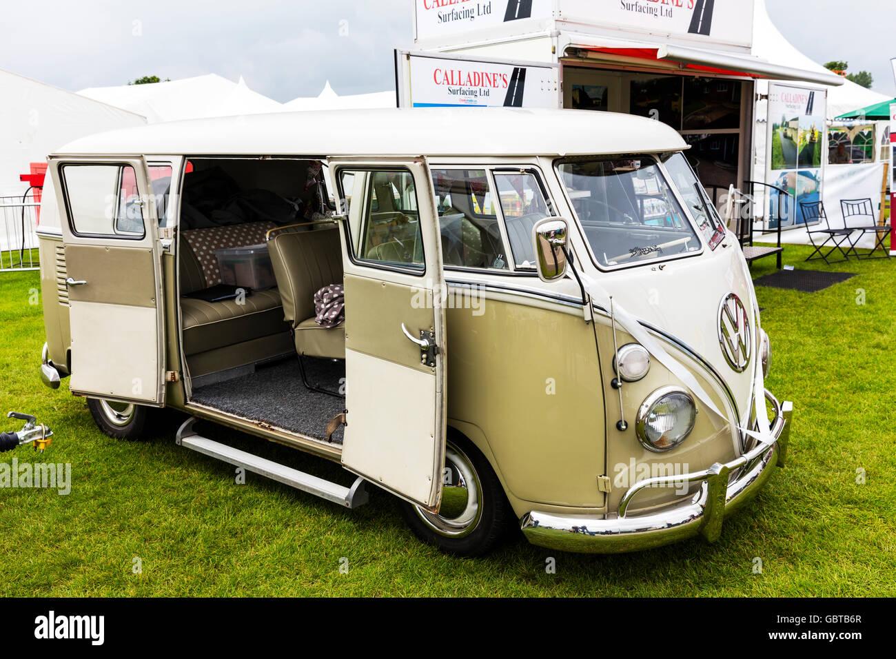 VW c&er van Volkswagen vehicle side doors open wedding car UK England GB & VW camper van Volkswagen vehicle side doors open wedding car UK ...