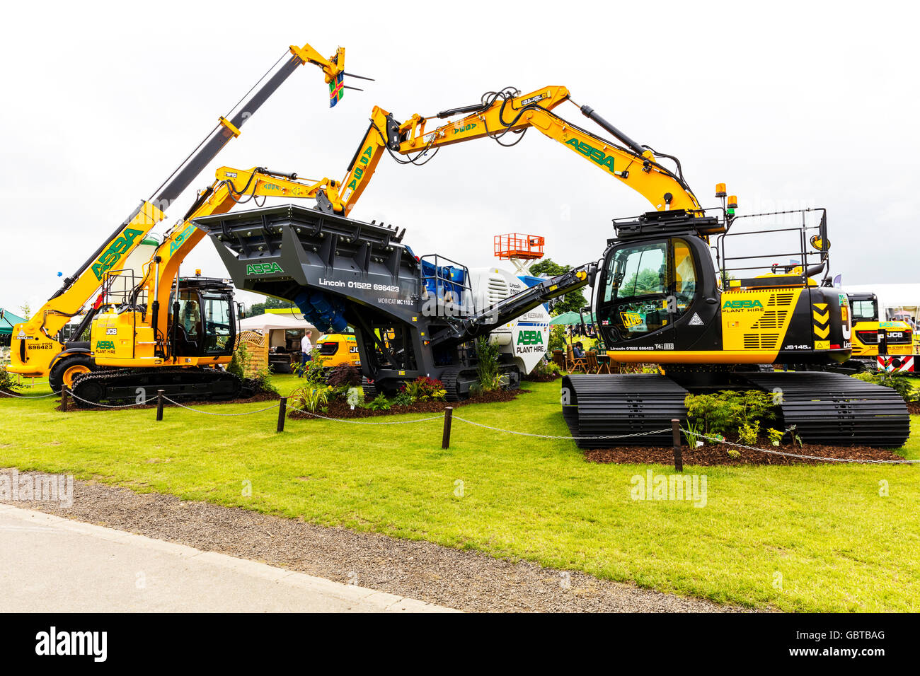 Telescopic Forklift Long Reach Excavator Abba plant hire machinery UK England GB Stock Photo