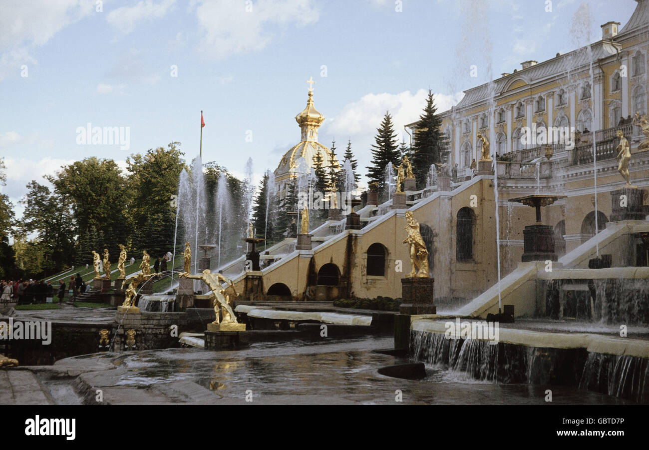 geography / travel, Russia, Sankt-Peterburg, Peterhof Palace, 1972, Additional-Rights-Clearences-NA - Stock Image