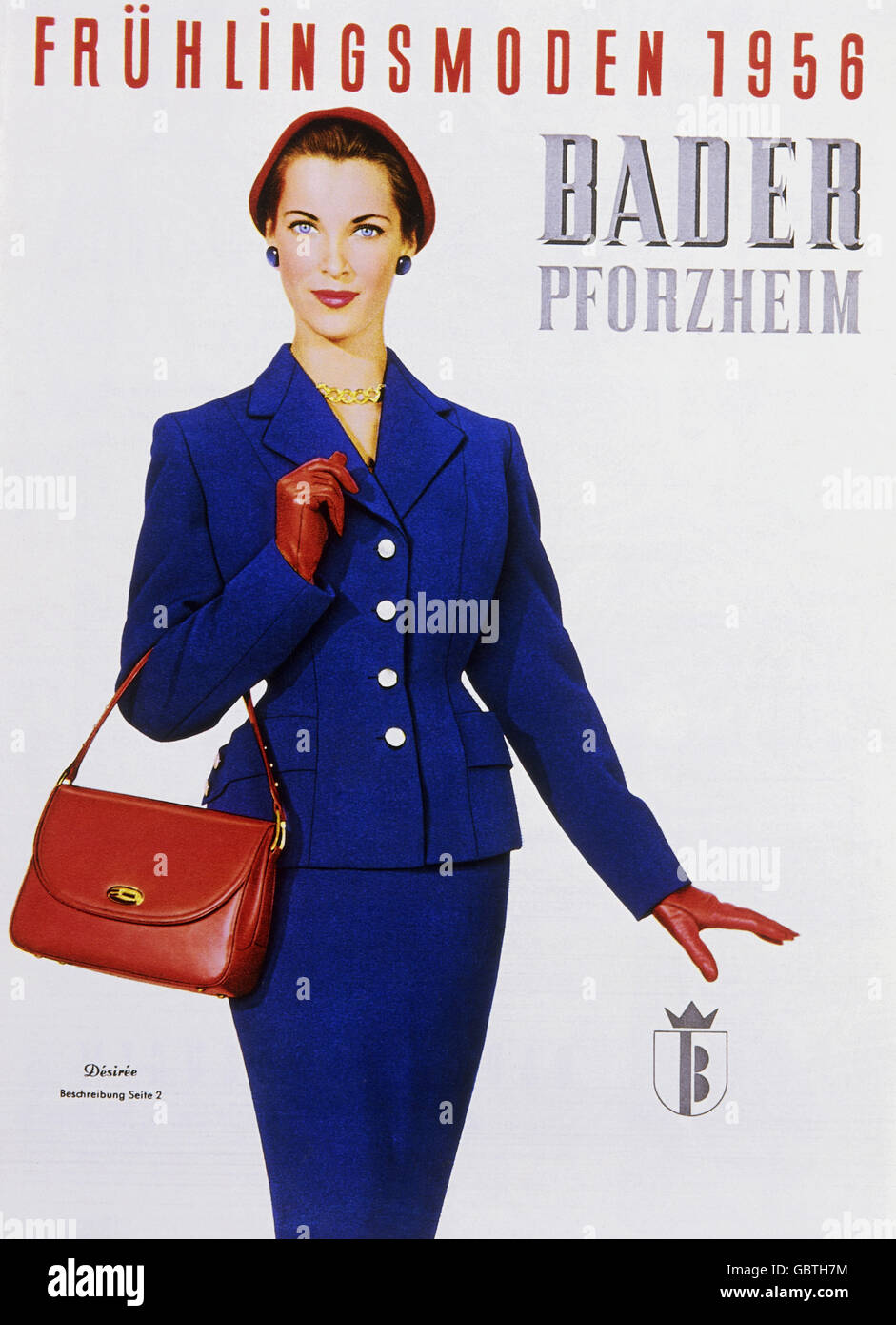 fashion, 1950s, catalogue fashion, Neckermann Versand KG, catalogue, cover, 1956, Additional-Rights-Clearences-NA - Stock Image