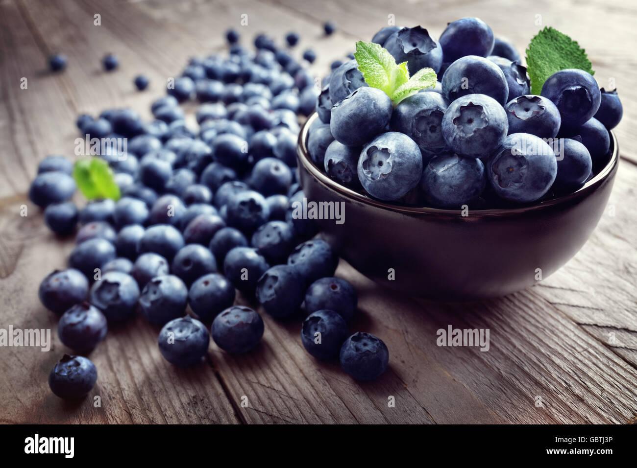 Blueberry antioxidant organic superfood - Stock Image