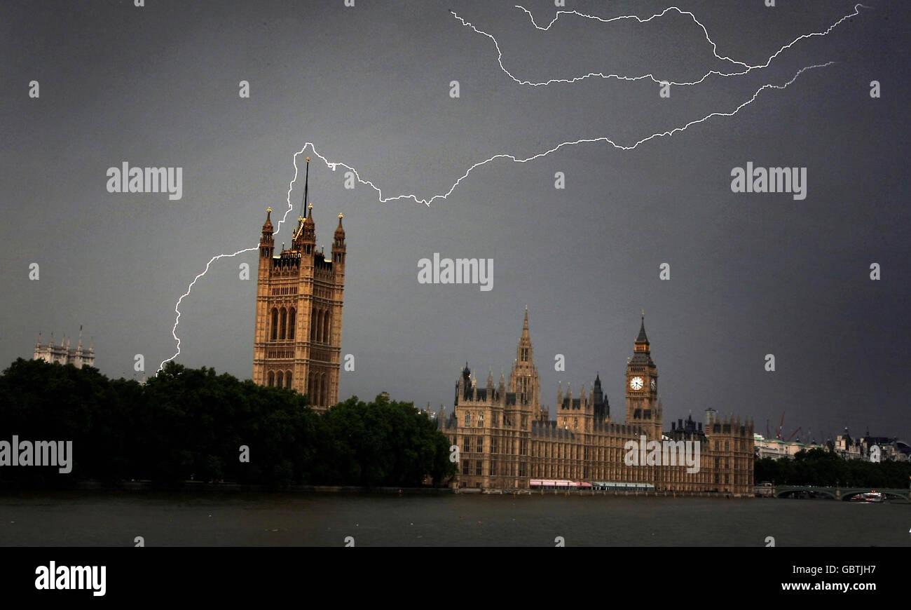 Weather - Hot weather - London - Stock Image