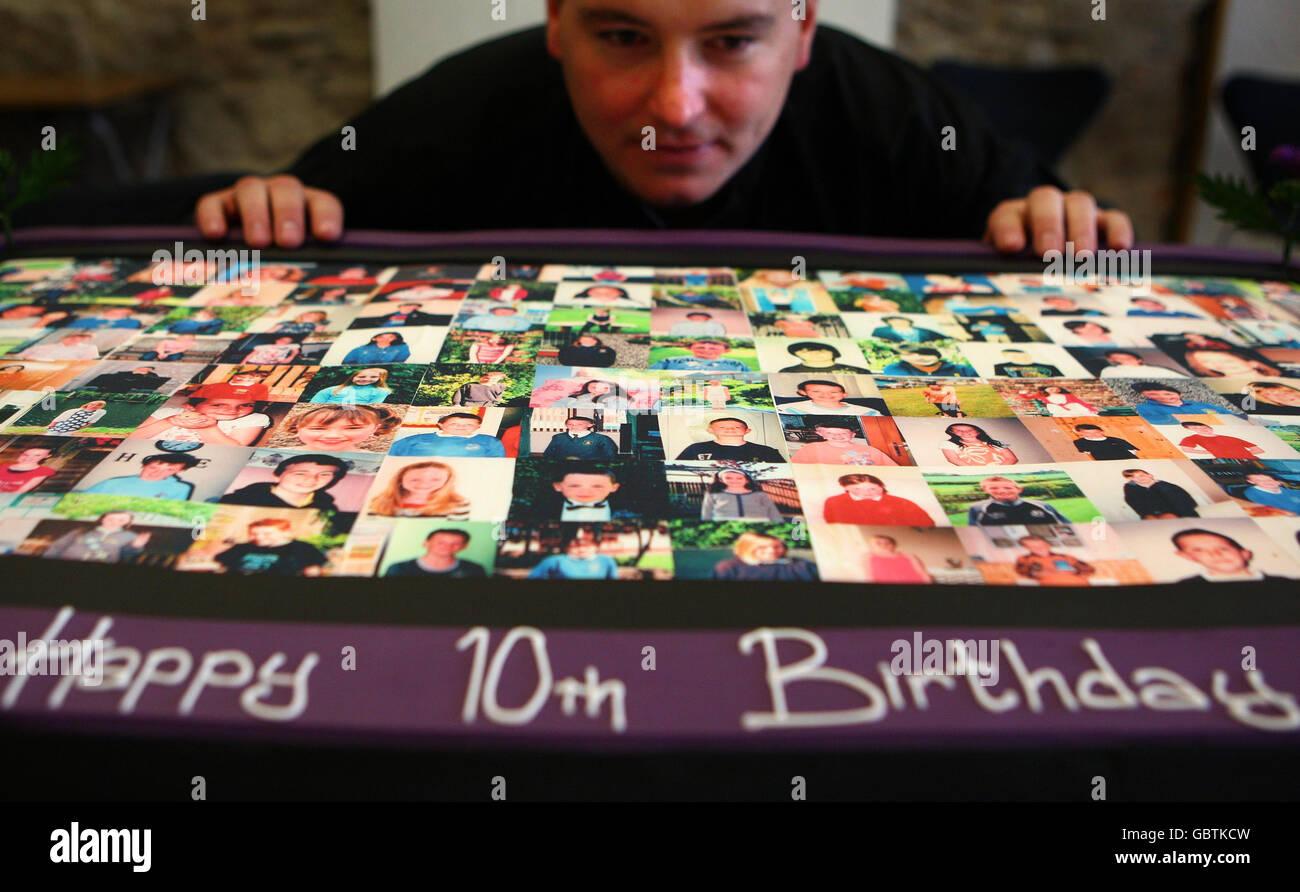 Scottish Parliament 10th anniversary - Stock Image
