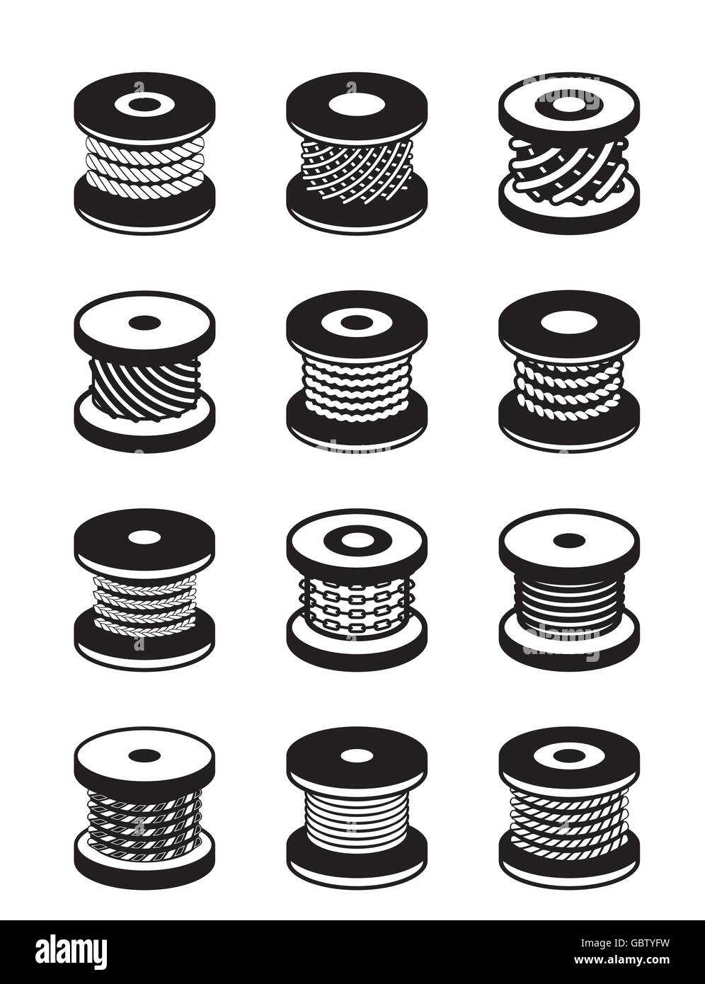 Wire Reel Stock Vector Images - Alamy