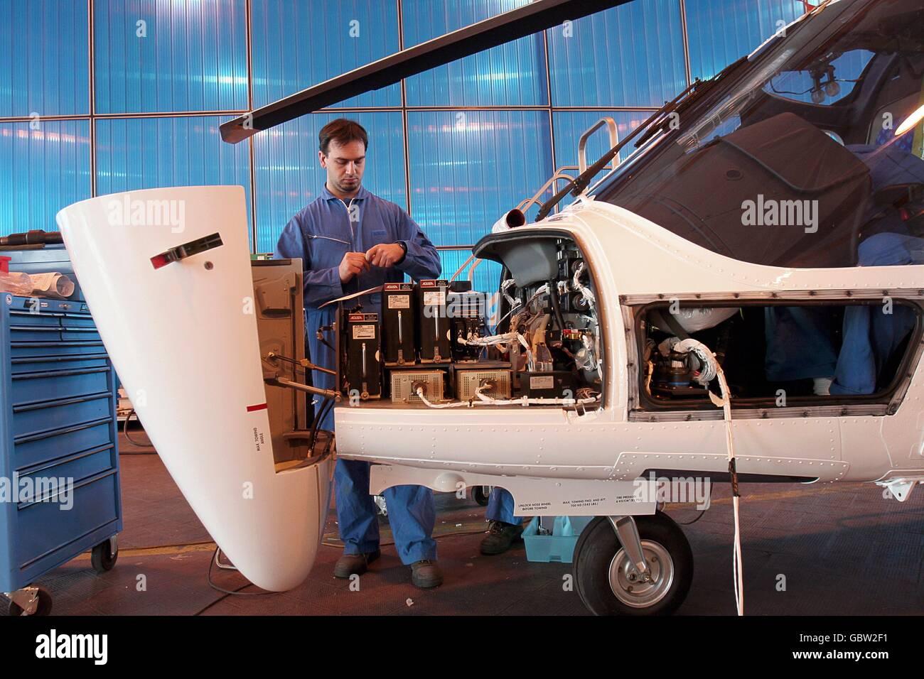 Aeronautical Industry Agusta/Westland - Helicopters production - Samarate, Varese, Italy    Credit  © Riccardo - Stock Image
