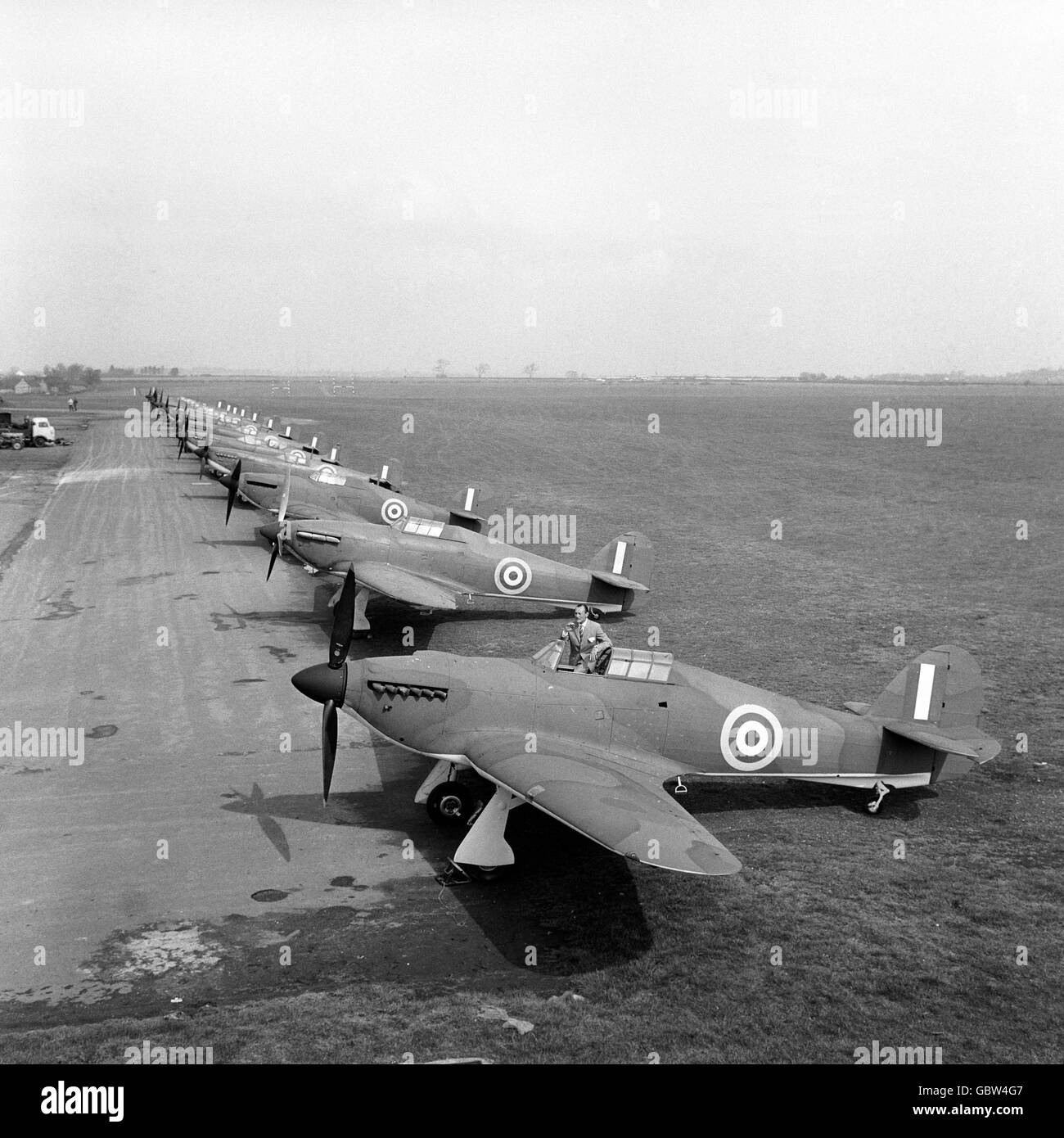 Film - 'Battle of Britain' Production - RAF Henlow - Stock Image