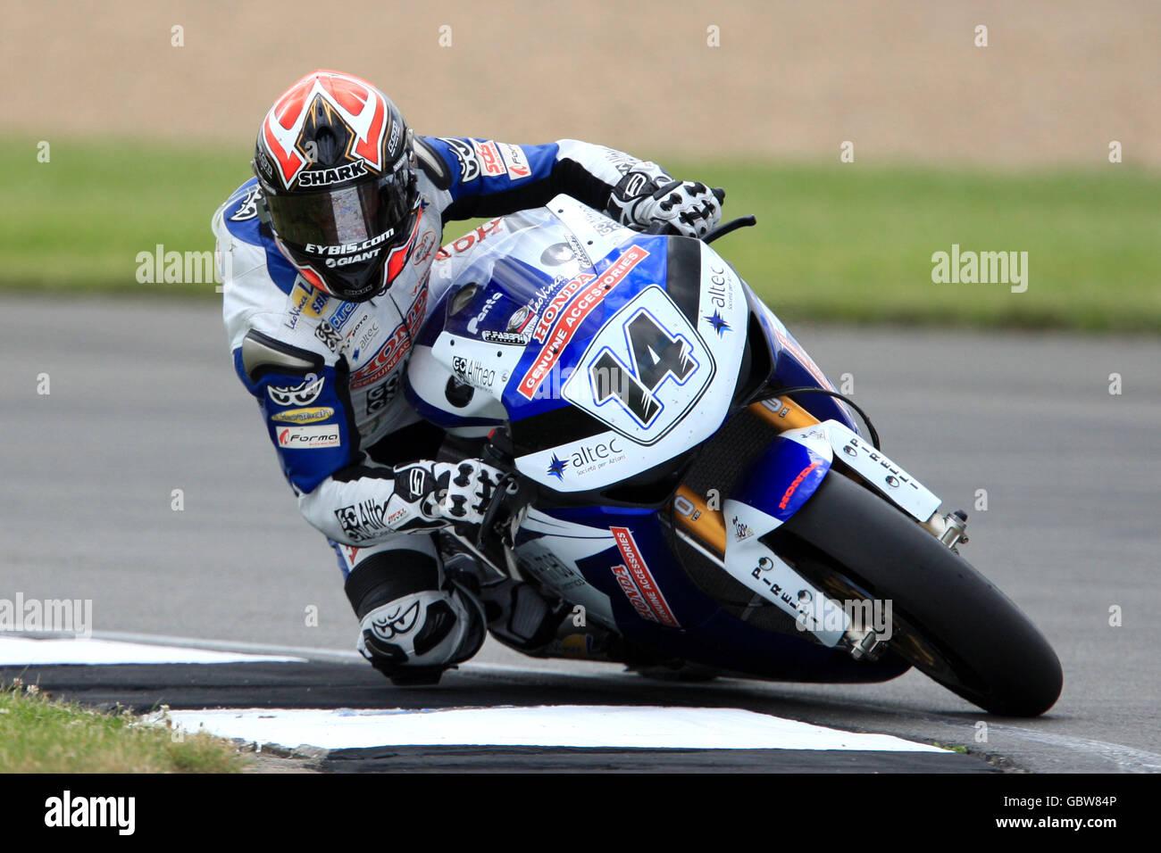 Motorcycling - SBK World Superbike Championship 2009 - Qualifying - Donington Park Stock Photo