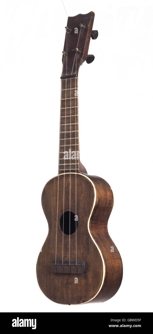 music, instruments, plucked string instrument, ukulele, early 20th century, 20th century, historic, historical, - Stock Image