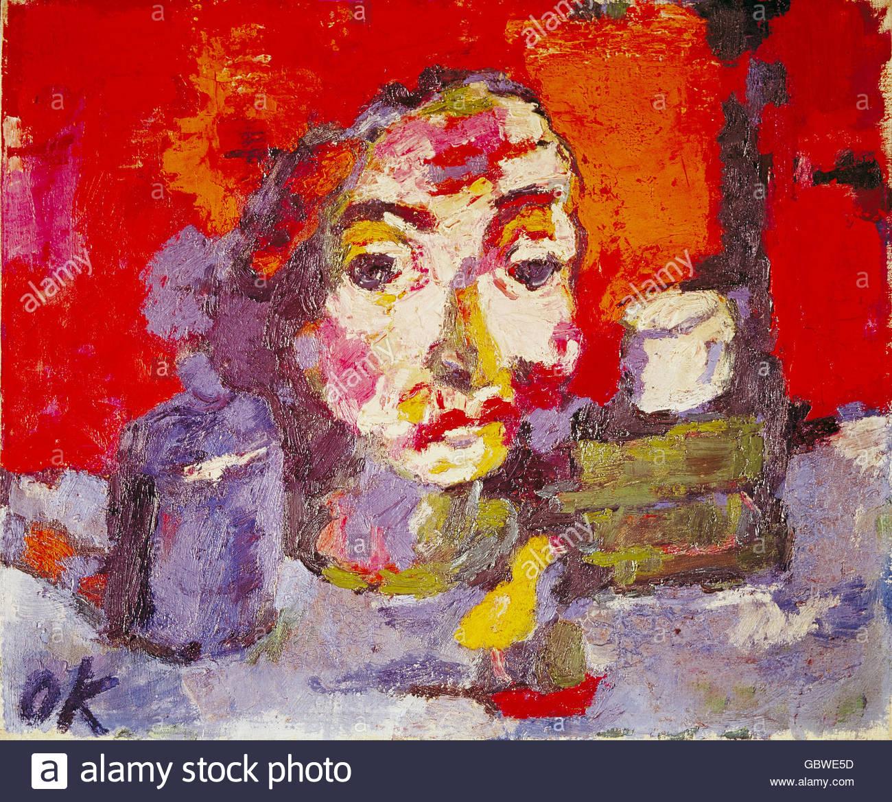 Fine Arts Kokoschka Oskar 1886 1980 Painting Stock