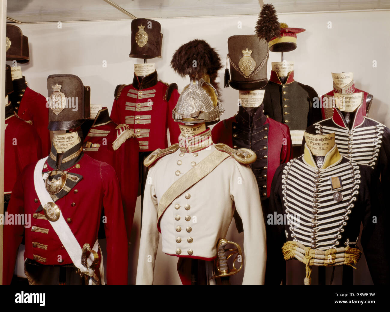 military, Germany, Hanover, uniforms, infantry, cavalry, Landwehr, 1803 - 1833, Bomann Museum, Celle, Germany, Additional - Stock Image