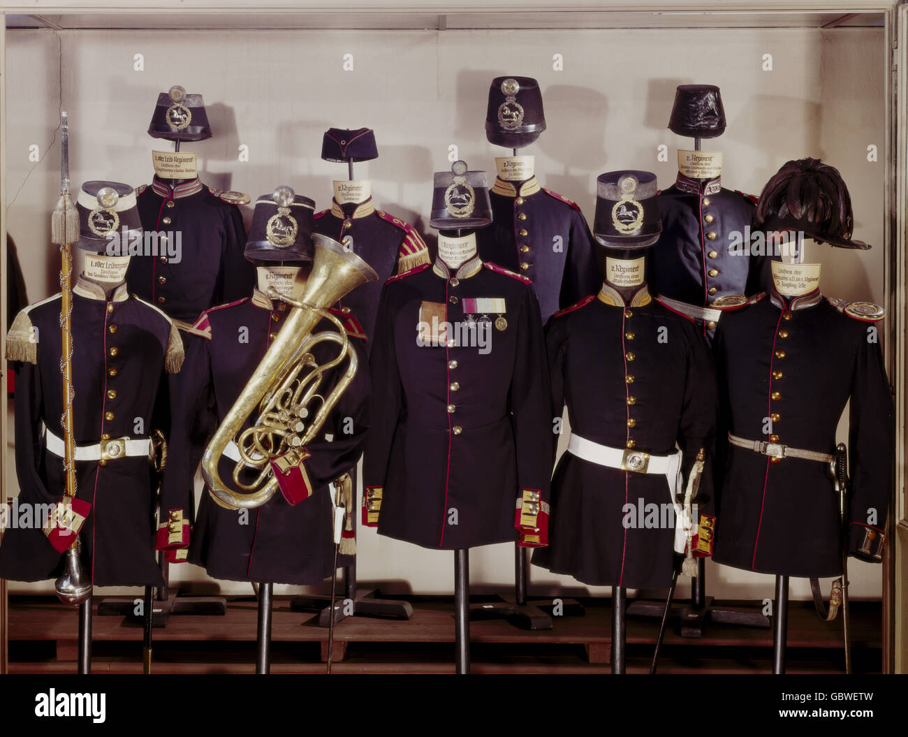military, Germany, Hanover, uniforms, 1st (Leibregiment) and 2nd Infantry Regiment, until 1866, Additional-Rights - Stock Image