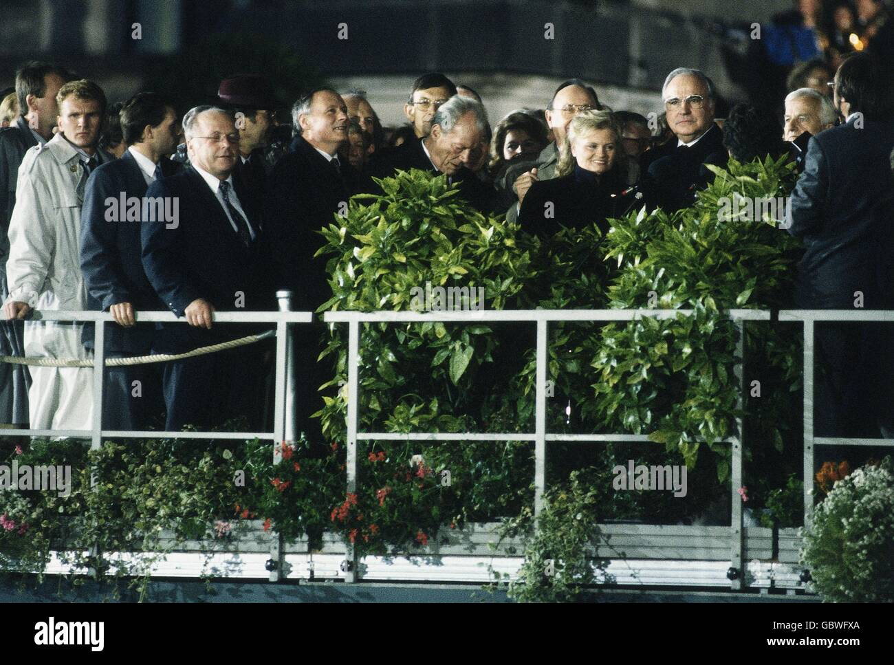 geography / travel, Germany, German reunification, politicians on stage, during ceremony of the 'German Unity', - Stock Image