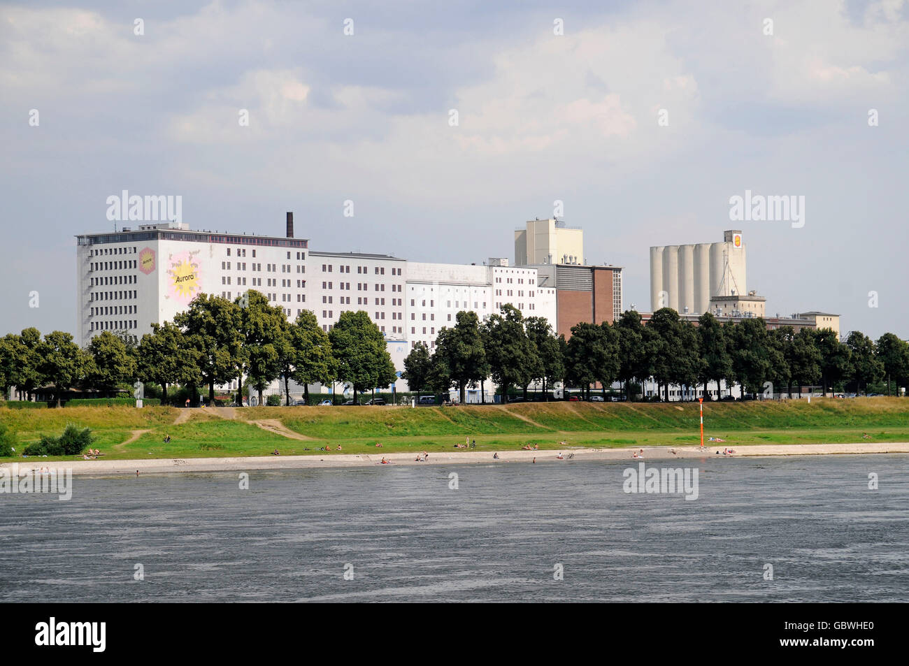 Aurora Muehlen, flour factory, port of Deutz, Cologne, Koeln, Rhineland, North Rhine-Westphalia, Germany / Köln - Stock Image