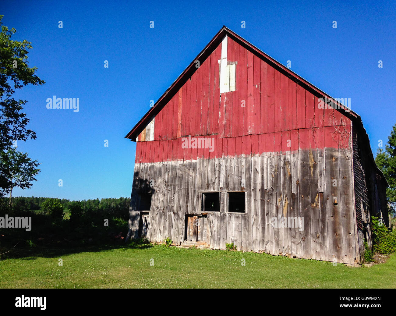 Rustic barn in Vermont - Stock Image