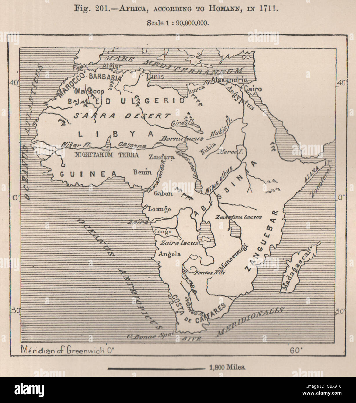Congo Basin On Map Of Africa.Africa According To Homann In 1711 Congo Basin 1885 Antique Map
