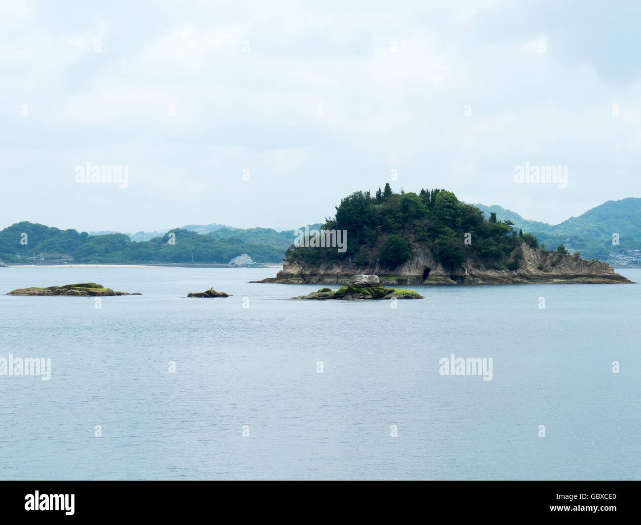 Islets and Innoshima Island in the Seto Inland Sea. - Stock Image