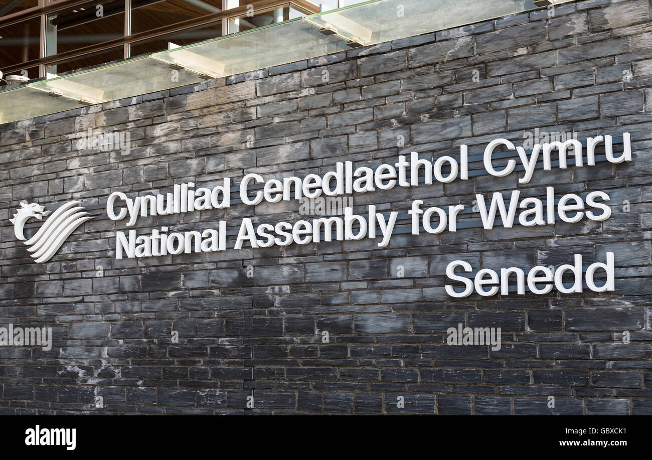 Senedd Welsh National Assembly for Wales building, Cardiff Bay, UK - Stock Image