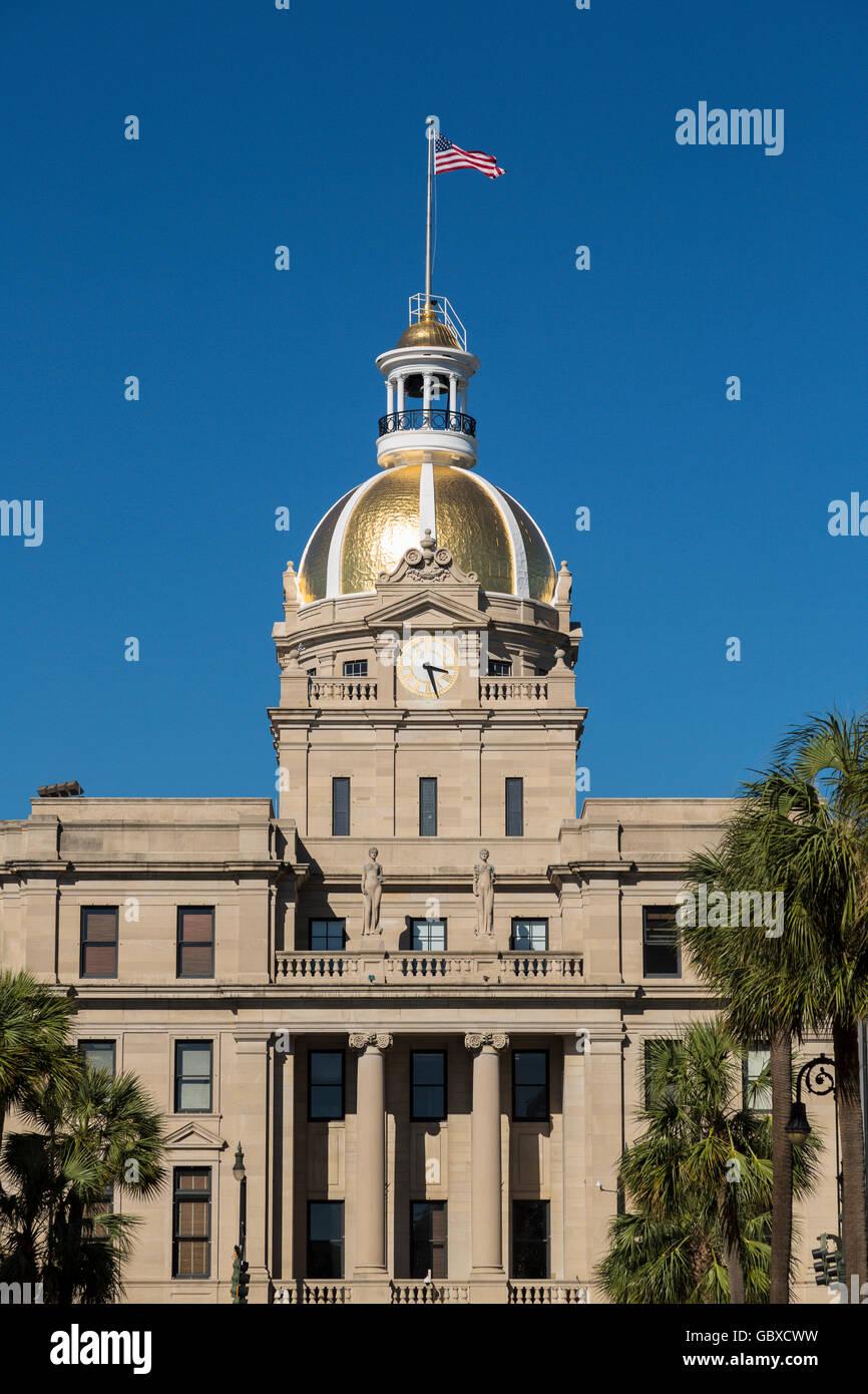 City Hall building, Savannah, GA, USA - Stock Image