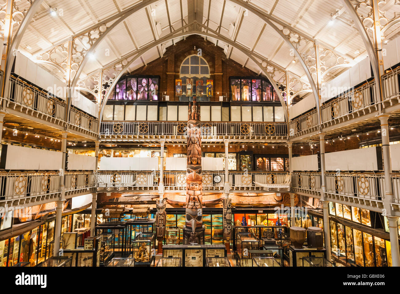 England, Oxfordshire, Oxford, Pitt Rivers Museum, Interior View - Stock Image