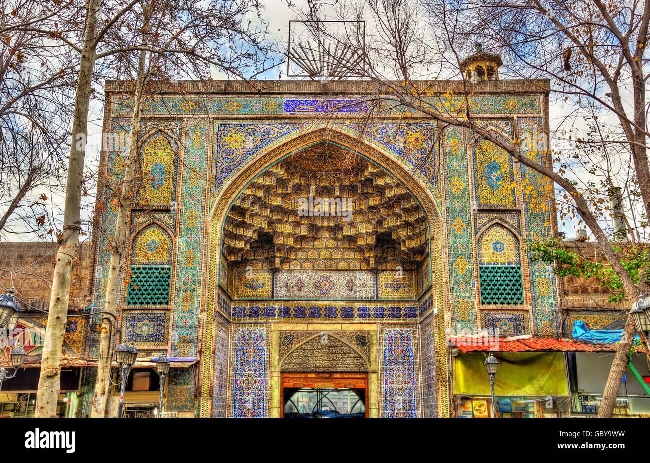 Mosque in Tehran Grand Bazaar - Iran - Stock Image