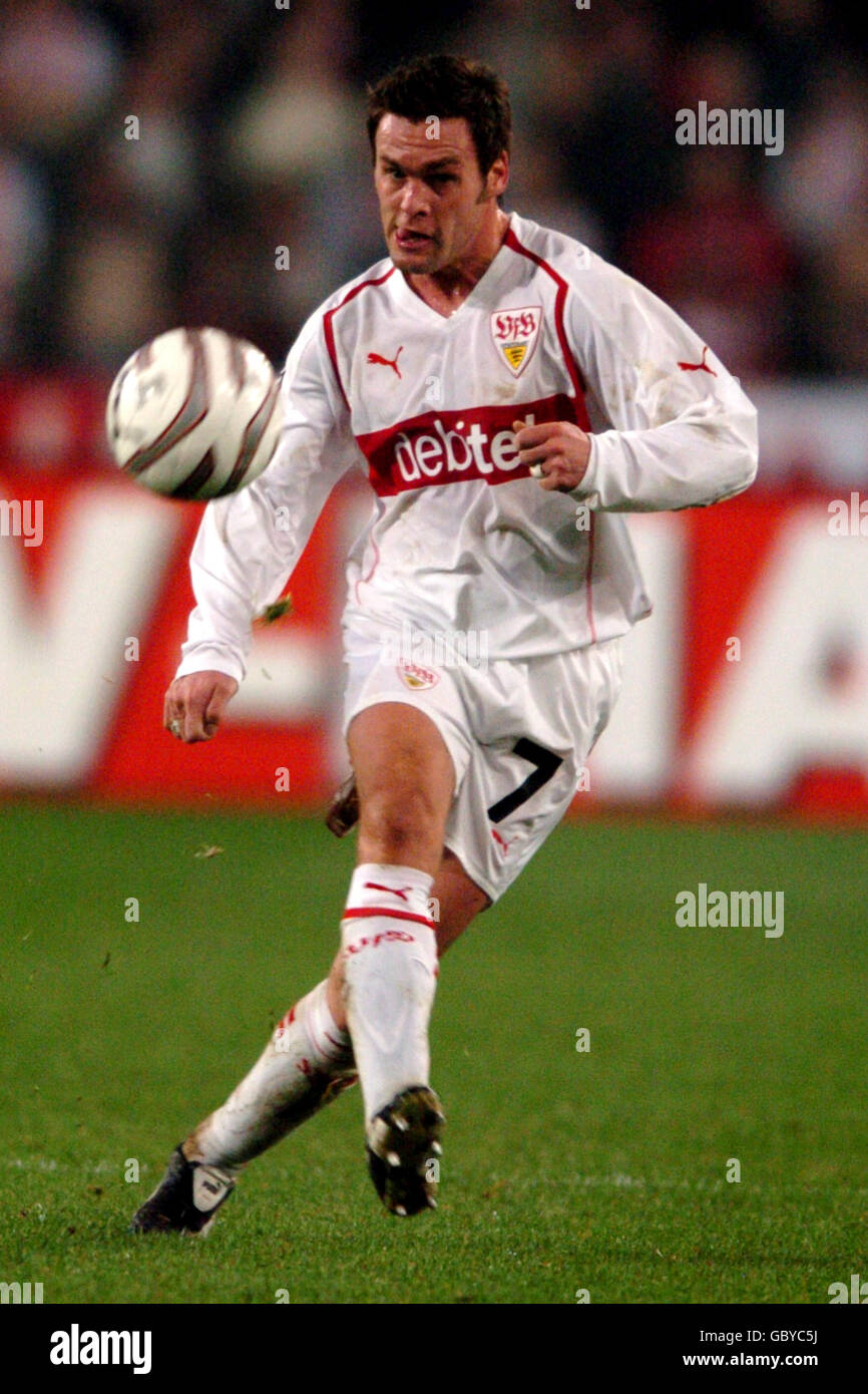 Soccer - UEFA Cup - Group G - VFB Stuttgart v Benfica Stock Photo