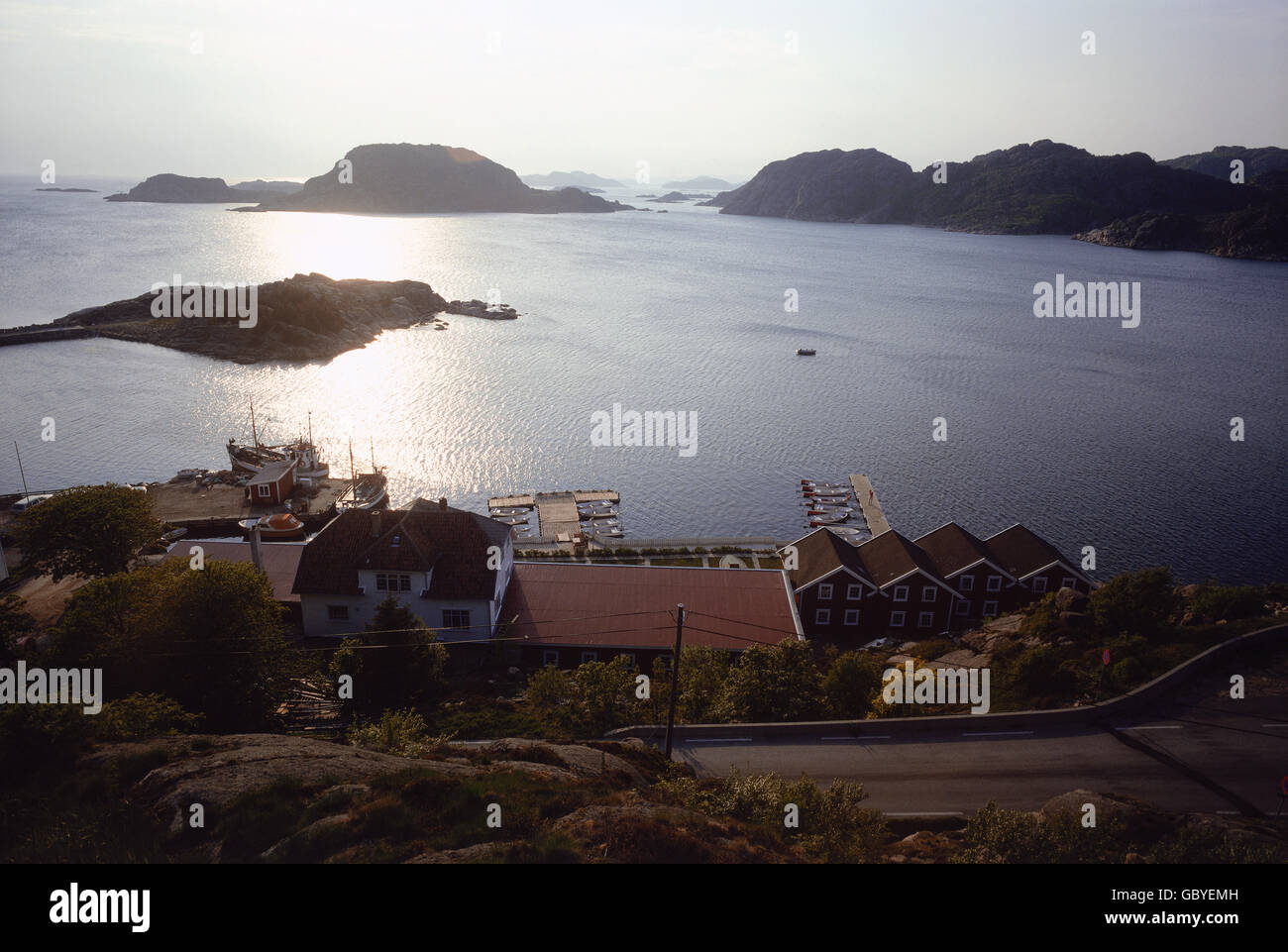 geography / travel, Norway, Southern Norwegian skerry coast, view over clefted coastline, 1981, Additional-Rights-Clearences-Not Available Stock Photo