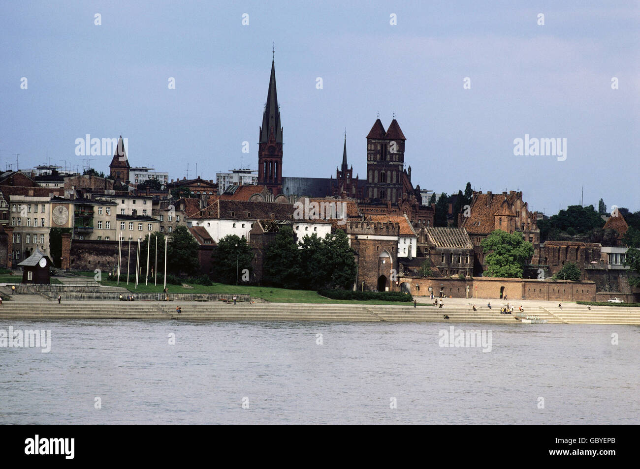 geography / travel, Poland, Torn, city view from the Vistula riverside, 1980, Additional-Rights-Clearences-NA - Stock Image