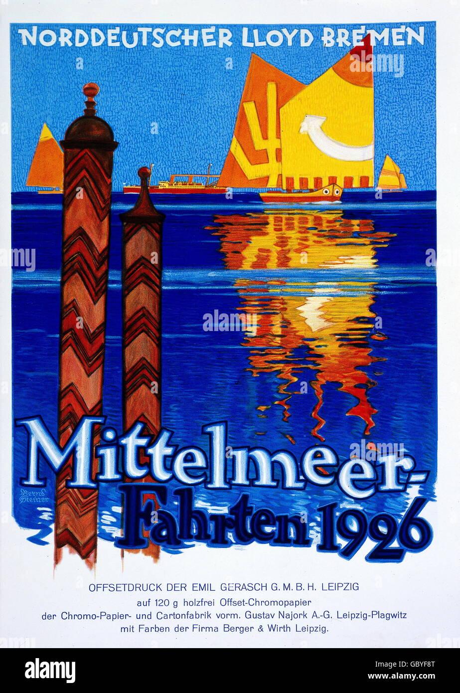 cheap for discount a47b7 fdde5 advertising, tourism, Norddeutscher Lloyd Bremen ...