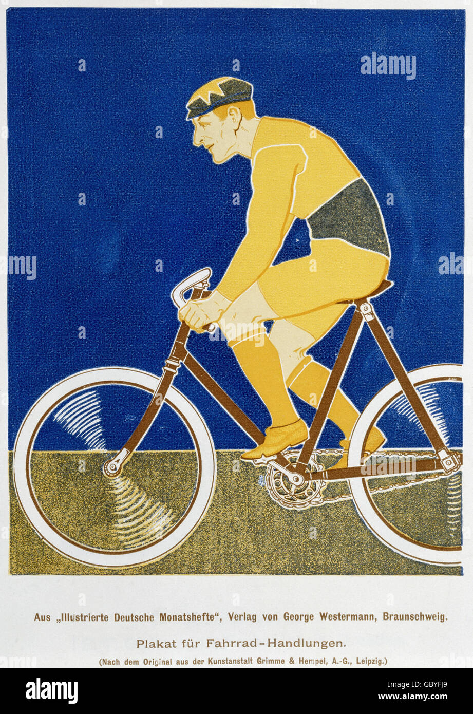 poster, poster for bicycle dealers, after the original of the 'Grimme & Hempel' art institute, from - Stock Image
