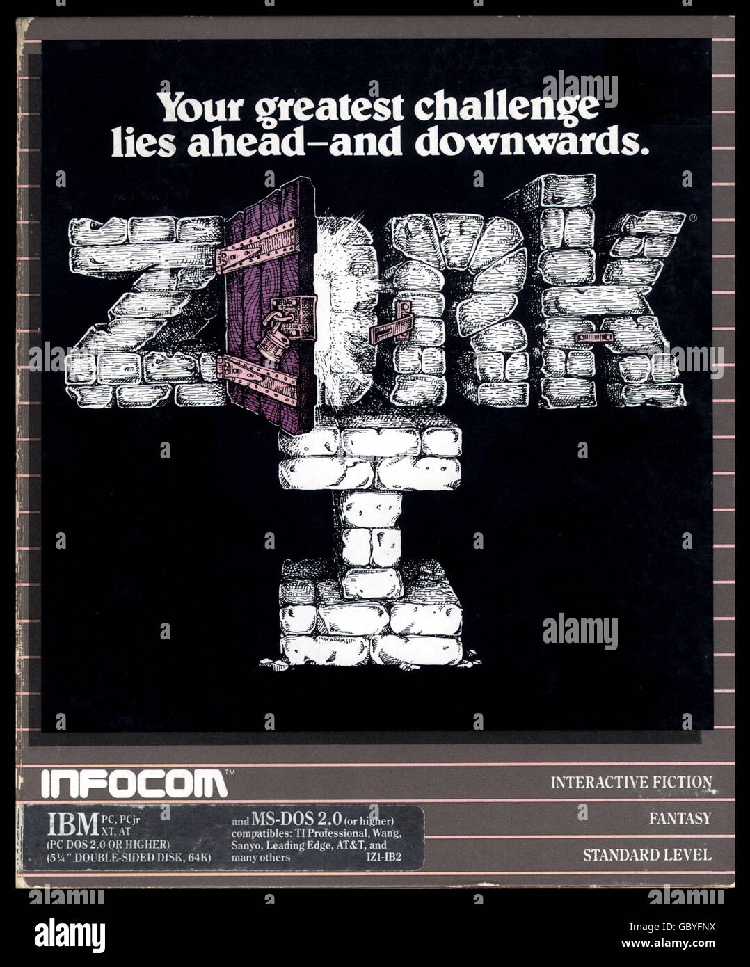 computing / electronics, software, early computer game 'Beyond Zork', adventure game for Commodore C64 home - Stock Image